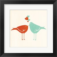 Framed Birds In Love