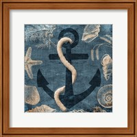 Framed Anchor Blue