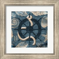 Framed Steering Wheel Blue