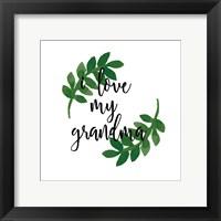 Framed Grandma Love