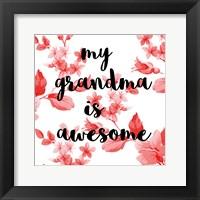Framed Awesome Grandma