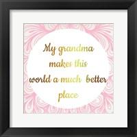 Framed Grandmas World