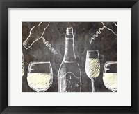 Framed Chalkboard Wine 1