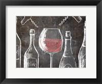 Framed Chalkboard Wine 2
