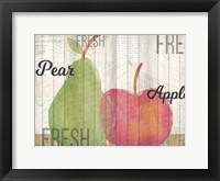 Framed Apples and Pears