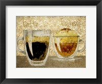 Framed Damask Coffee 1