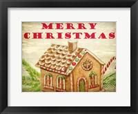 Framed Gingerbread House Christmas