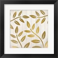 Framed Golden Ferns 2