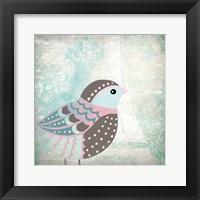 Framed Paris Bird 1