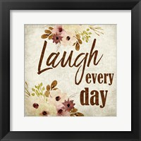 Framed Laugh every Day