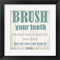 Framed Keeping Teeth