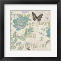 Framed Carte Postal Floral 1