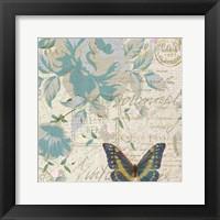 Framed Carte Postal Floral 2