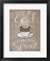 Framed Cup Of God