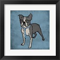 Nerdy Terrier Framed Print