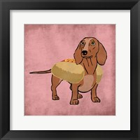 Framed Hot Dog Cutie