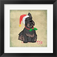 Framed Merry Scottie