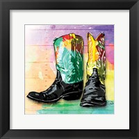 Framed Colorful Boots