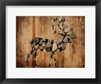 Framed Deer Woods