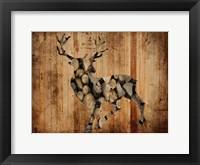 Framed Deer Woods 2