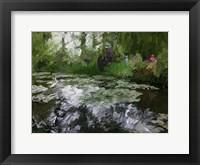 Framed Monet Pond 2