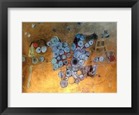 Framed Gold Abstract