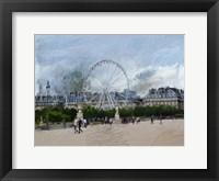 Framed Paris Louvre Ferris Wheel