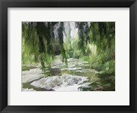 Framed Monets Tranquil Gardens