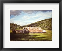 Framed Country Barn 3 Vintage