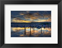 Framed Seneca Lake Sunrise