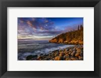 Framed Sunrise on Otter Cliffs #4