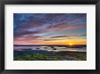 Framed Acadia Sunrise