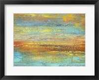 Framed Golden Landscape