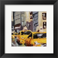 Framed New York Taxi 6