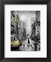 Framed Brooklyn Cab