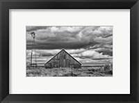 Framed Windmill and Barn