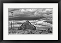 Framed Windmill and Barn