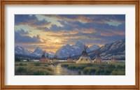 Framed Blackfeet Of The Rockies