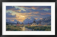 Framed Blackfeet Of The Rockies
