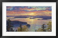 Framed Sunset Over The San Juan Islands