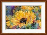 Framed Blue Sunflowers