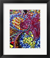 Framed African Dragon