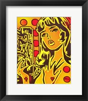 Framed Comic Girl