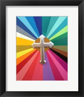 Framed Rainbow Cross