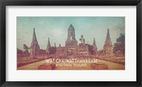 Framed Vintage Wat Chaiwatthanaram, Thailand, Asia
