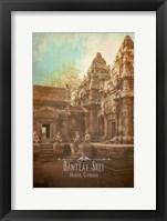 Framed Vintage Banteay Srei, Cambodia, Asia