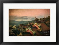 Framed Vintage Jiufen, Taiwan, Asia