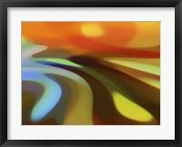 Framed Sunrise Valley River Landscape