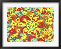 Framed Abstract Floral Fantacy