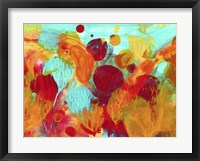 Framed Colorful Under The Sea Abstract